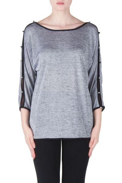 Joseph Ribkoff Silver Melange/Black Tunic Style 171455