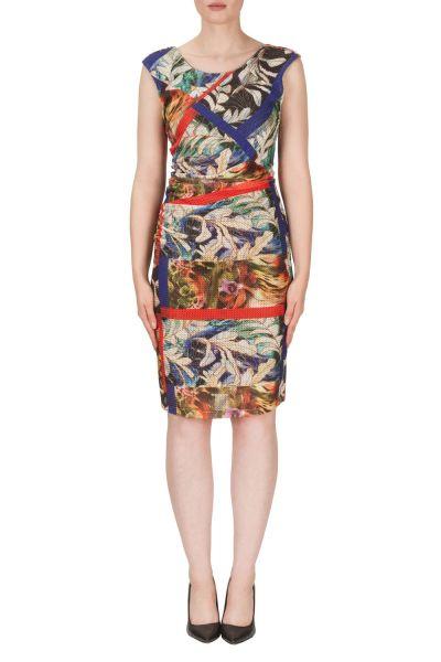 Joseph Ribkoff Black/Orange/Multi Dress Style 171588