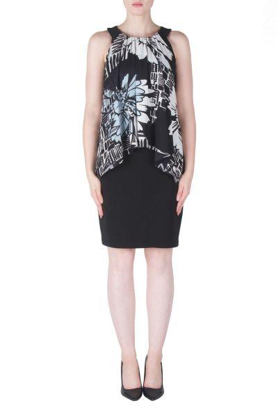 Joseph Ribkoff Black/Grey/Vanilla Dress Style 171626