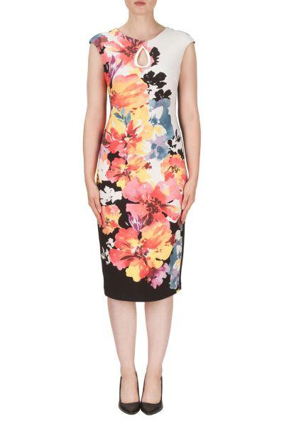 Joseph Ribkoff Black/Multi Dress Style 171644