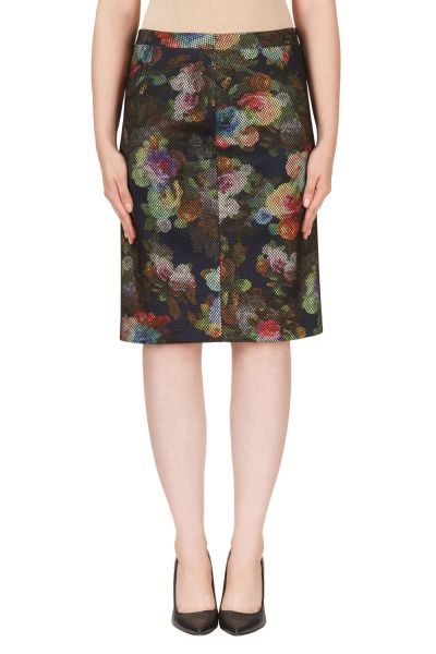 Joseph Ribkoff Navy/Multi Skirt Style 171660