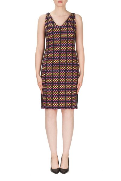 Joseph Ribkoff Black/Multi Dress Style 171664