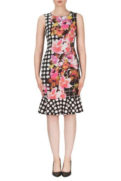 Joseph Ribkoff Black/Multi Dress Style 171670