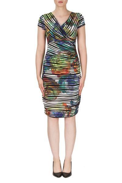 Joseph Ribkoff Orange/Purple/Green Dress Style 171685