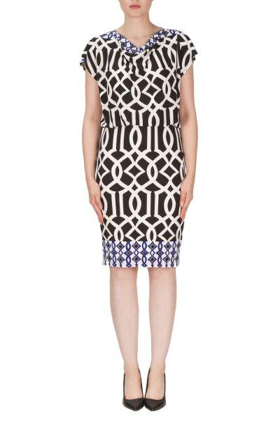 Joseph Ribkoff Black/White/Blue Dress Style 171742