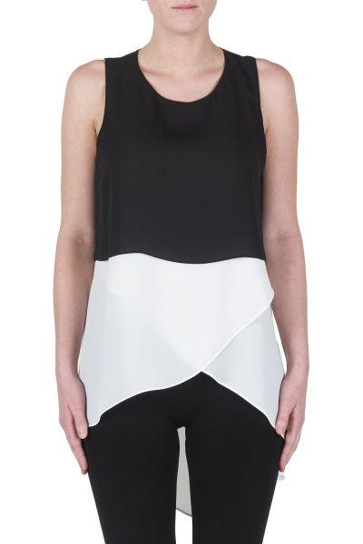 Joseph Ribkoff Black/White Top Style 172284