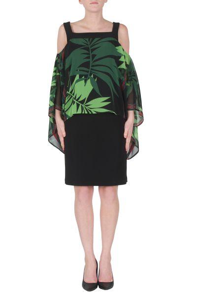 Joseph Ribkoff Black/Green/Lime Dress Style 172624