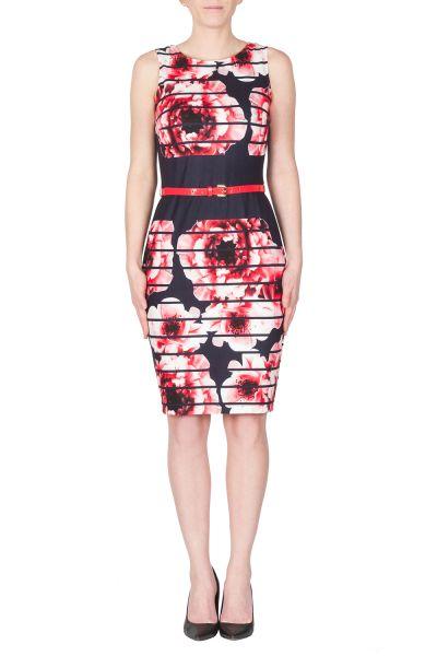 Joseph Ribkoff Navy/Red/White Dress Style 172652