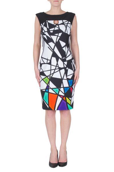 Joseph Ribkoff Black/White/Multi Dress Style 172704