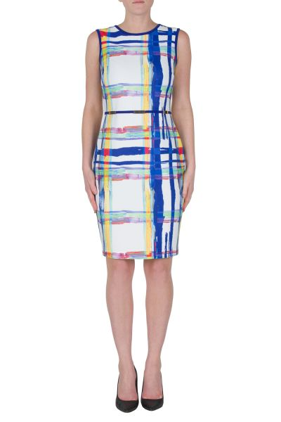 Joseph Ribkoff White/Multi Dress Style 172712
