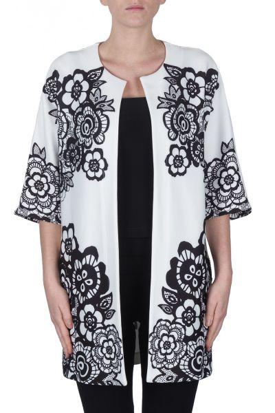 Joseph Ribkoff White/Black Jacket Style 172733
