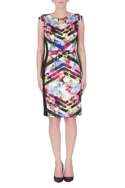 Joseph Ribkoff Multi/Black Dress Style 172740
