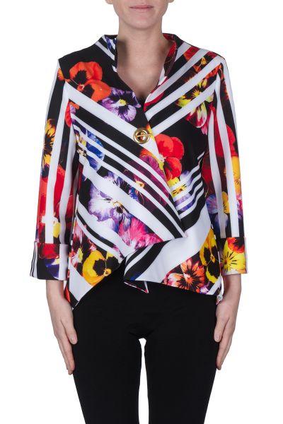 Joseph Ribkoff Black/Red/Multi Jacket Style 172745