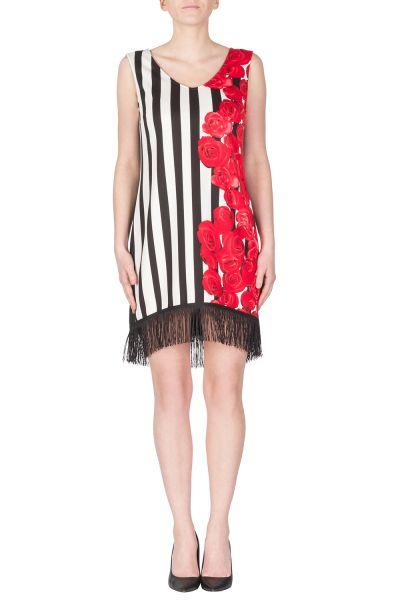 Joseph Ribkoff Black/White/Red Dress Style 172748