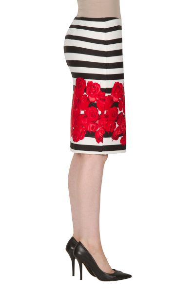 Joseph Ribkoff Black/White/Red Skirt Style 172749