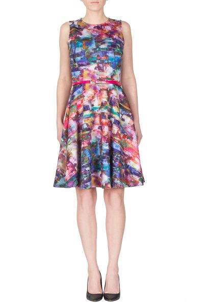 Joseph Ribkoff Fucshia/Multi Dress Style 172768
