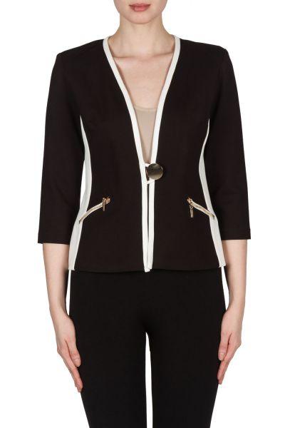 Joseph Ribkoff Black/Vanilla Jacket Style 173306