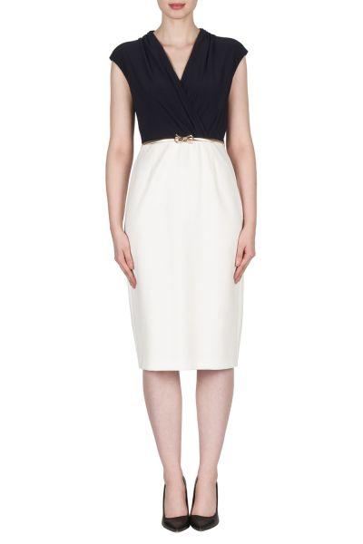 Joseph Ribkoff Vanilla/Midnight Dress Style 173311