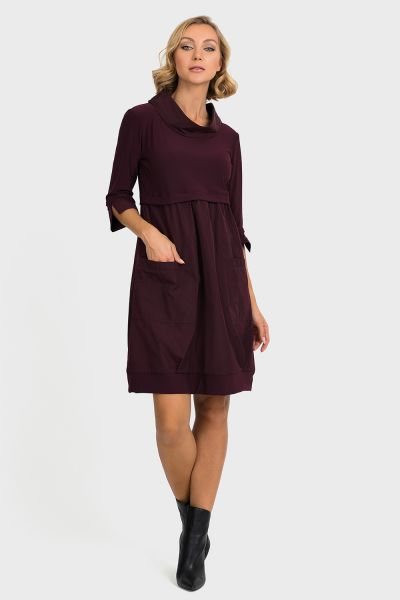 Joseph Ribkoff Blackberry Dress Style 173444