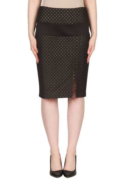 Joseph Ribkoff Black/Champagne Skirt Style 173493