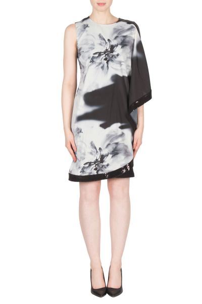 Joseph Ribkoff Black/Grey Dress Style 173609
