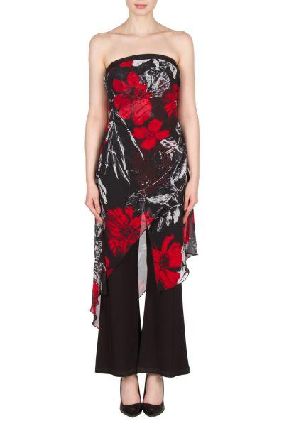 Joseph Ribkoff Black/Grey/Red Jumpsuit Style 173620