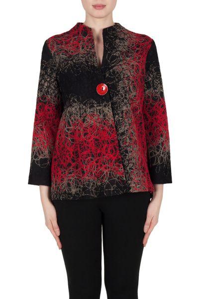 Joseph Ribkoff Black/Red/Grey Jacket Style 173653