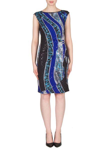 Joseph Ribkoff Black/Blue/Multi Dress Style 173680