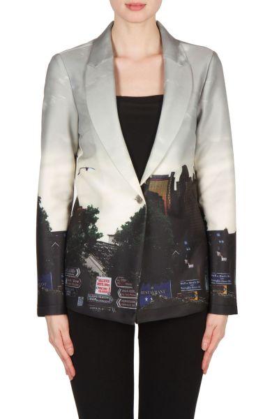 Joseph Ribkoff Black/Grey/Multi Jacket Style 173700