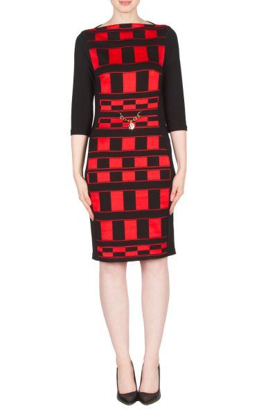 Joseph Ribkoff Black/Red Dress Style 173781