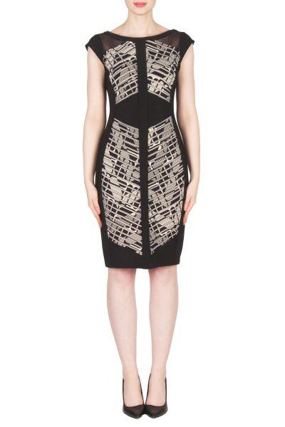 Joseph Ribkoff Black/Beige Dress Style 173888