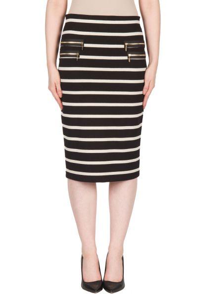 Joseph Ribkoff Black/Beige Skirt Style 173914