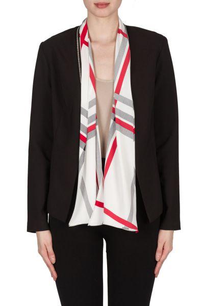 Joseph Ribkoff Black/Vanilla/Red Jacket Style 173950
