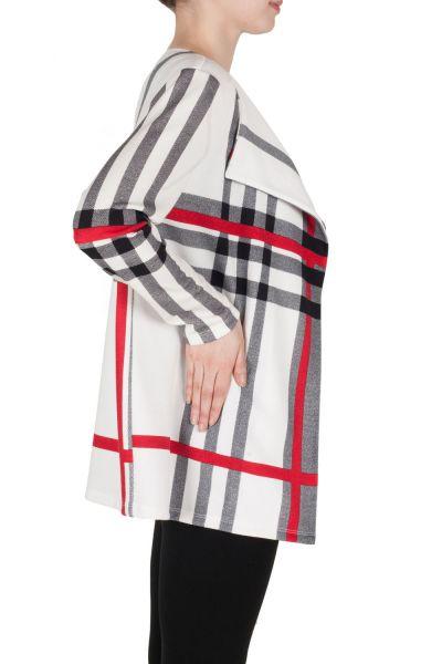 Joseph Ribkoff Vanilla/Black/Red Cover Up Style 173952