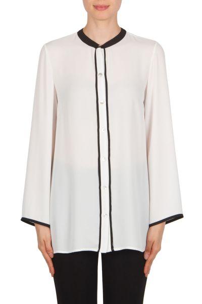 Joseph Ribkoff Off-White/Black Blouse Style 174276