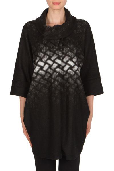 Joseph Ribkoff Black/White Coat Style 174390