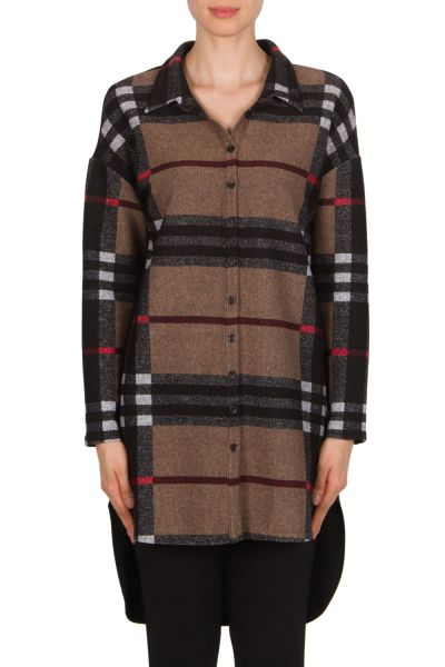Joseph Ribkoff Black/Red/Multi Blouse Style 174634