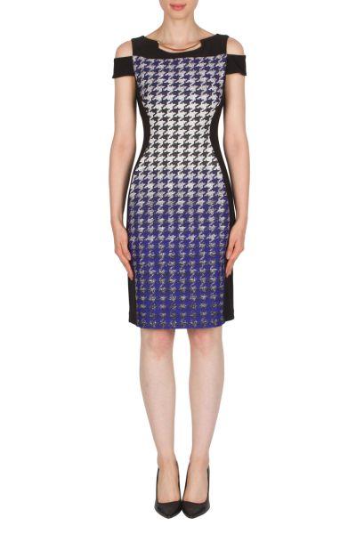 Joseph Ribkoff Black/White/Royal Dress Style 174660