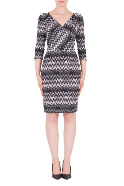 Joseph Ribkoff Grey/Multi Dress Style 174688