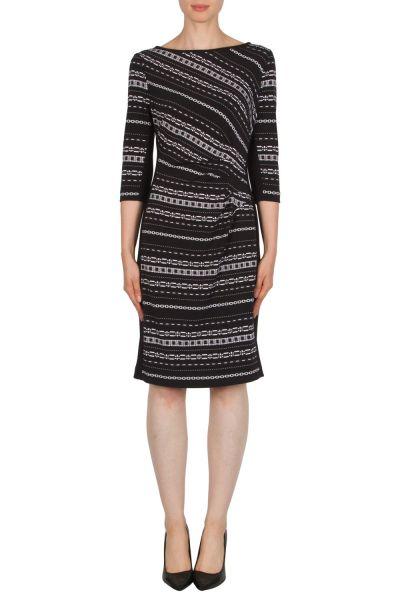 Joseph Ribkoff Black/White/Grey Dress Style 174822