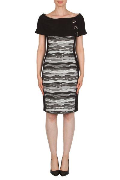Joseph Ribkoff Black/White Dress Style 174826