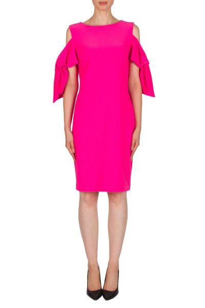 Joseph Ribkoff Neon Pink Dress Style 181049