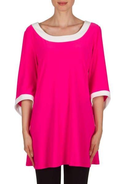 Joseph Ribkoff Neon Pink/Vanilla Tunic Style 181058