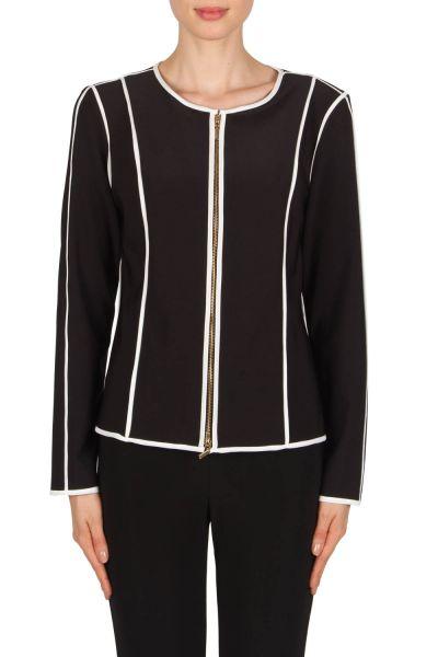 Joseph Ribkoff Black/Off-White Jacket Style 181145