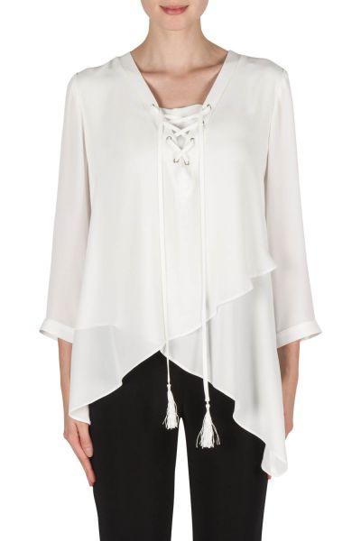Joseph Ribkoff Off-White Blouse Style 181282