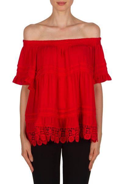 Joseph Ribkoff Red Top Style 181297