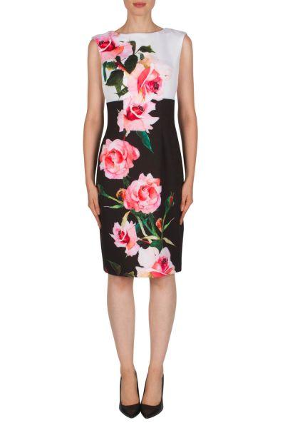 Joseph Ribkoff Black/White/Pink Dress Style 181328