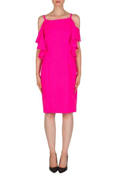 Joseph Ribkoff Neon Pink Dress Style 181411