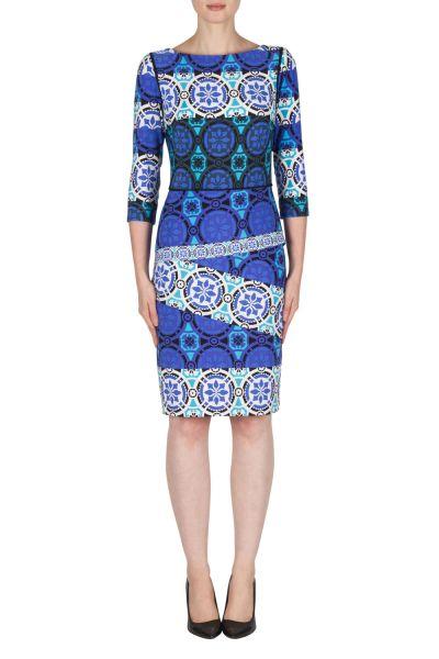 Joseph Ribkoff Blue/Multi Dress Style 181689