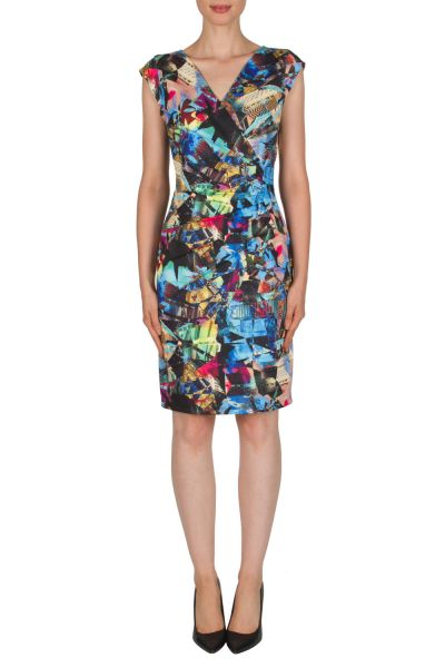Joseph Ribkoff Blue/Multi Dress Style 181716